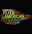the american flyer model train text background vector image vector image