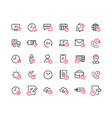 time outline icon set vector image vector image