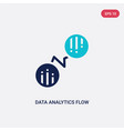two color data analytics flow icon from business vector image vector image