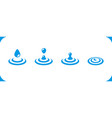 water drop icon vector image