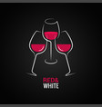 wine toasting logo red and white wine glass vector image vector image