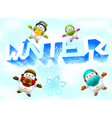 winter theme vector image vector image