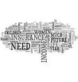 women outlast men the financial concerns text vector image vector image