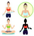young girl leads a healthy lifestyle vector image