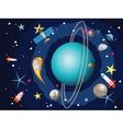 Uranus Planet in the Space4 vector image
