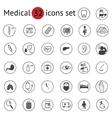 Flat medical icons set vector image