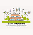 smart home control infographic banner building vector image