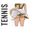 sport girl tennis athlete vector image