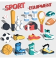 3d perspective flat sport equipment vector image vector image