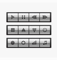 a set of media player control icons vector image vector image