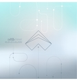 Abstract background with curved lines dotted vector image vector image