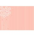 abstract pink background with flowers vector image vector image