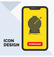 aim focus goal target targeting glyph icon in vector image vector image