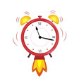 alarm clock red wake-up time concept quickly vector image vector image