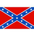 american confederate flag vector image
