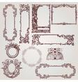 antique victorian baroque frames vector image vector image