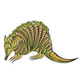 armadillo ethnic design vector image