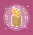 bag of breads icon vector image vector image