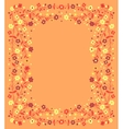 Beautiful frame of flowering branches vector image vector image