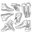 Black and white sneakers set vector | Price: 1 Credit (USD $1)