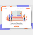 book and education concept vector image vector image
