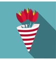 Bouquet icon flat style vector image