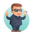 casino poker cards gambling mascot professional vector image vector image