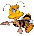 Clever Honey Bee vector image
