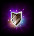 colorful metal shield icon for slot machine game vector image