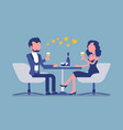 couple enjoy romantic dinner and date in vector image vector image