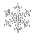 creative snowflake icon image vector image