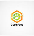 cube food logo concept icon element and template vector image vector image