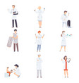 doctor characters collection professional medical vector image
