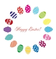 Easter eggs set on a white background vector image vector image