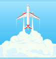 flat banner on the theme of travel by airplane vector image