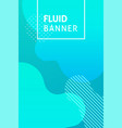 fluid blue banner text vector image vector image