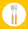 fork and spoon cutlery vector image