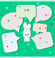 funny little hare with big eyes surprised rabbit vector image