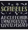 Funny scribbles alphabet vector image vector image