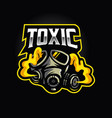 gas mask logo for toxic team esport vector image
