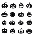 halloween pumpkins icons vector image vector image