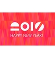 Happy New Year Banner Fire Background vector image