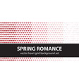 heart pattern set spring romance seamless vector image