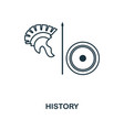 history outline icon creative design from school vector image