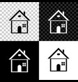 house icon isolated on black white and vector image vector image