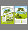 landscaping and gardening service business poster vector image