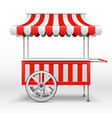 mobile market stall with wheels blank farmer vector image vector image