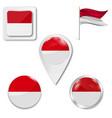 poland flag travel vector image vector image