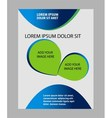Professional business design layout template vector image