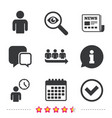queue icon person waiting sign check and time vector image vector image